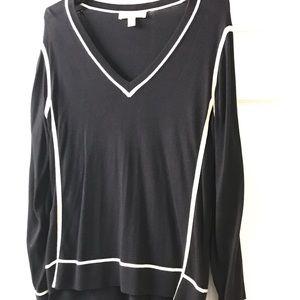 NEW Michael Kors V Neck Lined Sweater